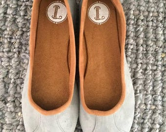 ISLANDER- Ballet Flats - Suede Shoes - 39- Grey. Available in different colours & sizes