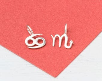 Zodiac Necklace Sterling Silver Tiny Zodiac sign  Golden Taurus Post Earring Rose Gold Virgo Teen Jewelry Kid  personalized gift
