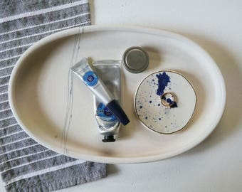 White and Black Graphic Tray; Perfume Tray; Serving Platter; Serving Dish