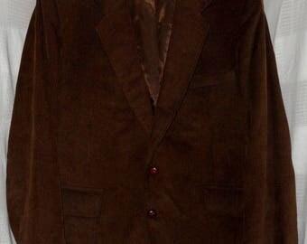 The Corduroy Collection Dark Brown Corduroy Blazker Jacket Men's size 46R 46 Regular