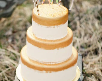 Cake Bunting Topper, Cake Garland, Rustic Cake Topper, Boho Cake Topper Wedding, Shabby Chic Cake Topper, Cake Banner, Cake Flag Topper
