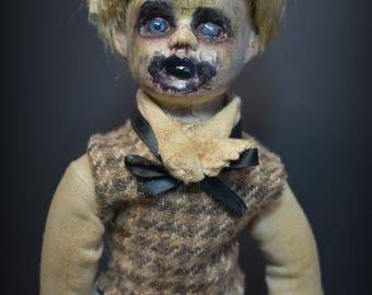 ON SaLe CHARLES Porcelain Doll ooak creepy cute Horror collectible victorian Halloween Zombie Boy