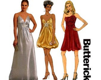 Butterick 5323 Womens PLUS SIZE Maxi Prom Formal Cocktail Dress 2009 Out Of Print Sewing Pattern Size 16 18 20 22 24 UNCUT Factory Folds
