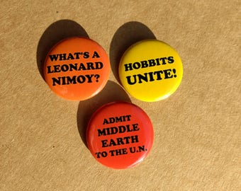 Ballad of Bilbo Baggins Pinback Button Set