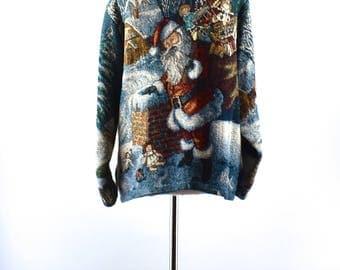 SUGAR STREET WEAVERS Tapestry Christmas Cardigan