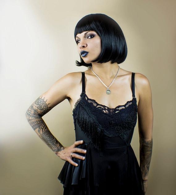 Black Noir Vintage Inspired Lace Dress