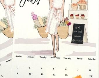 July Finds Digital Desk Calendar Art - July Calendar Planner Page  -Planner Pages July Heather Stillufsen  Calendars