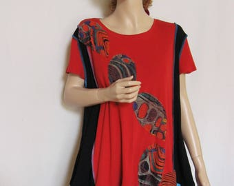XL to 1X  Leaves Tunic