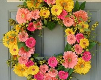 Summer Wreath - Summer Door Wreath - Wreath for Summer Door