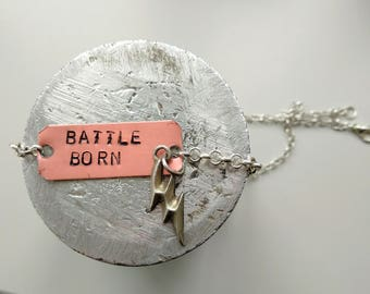 Necklace Battle Born - The Killers - Handstamped