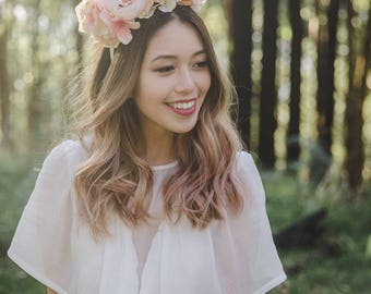 statement wedding flower crown // flower crown fascinator, spring racing flower crown, statement floral headpiece headband