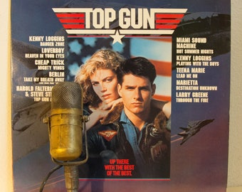 "Top Gun Vinyl Record Tom Cruise Movie Soundtrack Sex Sexy ""Top Gun"" (1986 CBS w/""Danger Zone"", ""Playing with the Boys"")"