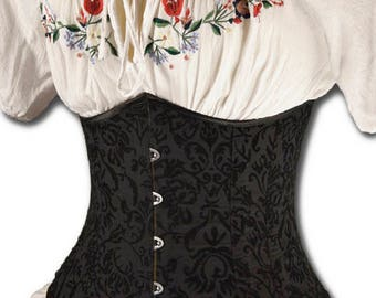 Victorian Corset Sewing Pattern, Digital Download, Plus Sized, Curvy Corset, Cosplay, Under bust Pattern, How to Sew Tutorial, Large pattern