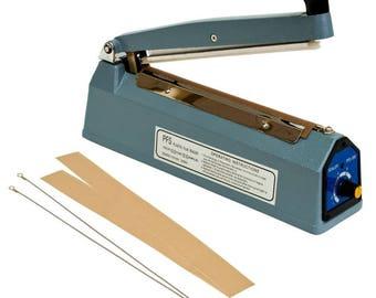 Plastic Bag Sealer. 8 inch (20cm) Impulse Sealer.  Heat Sealer.