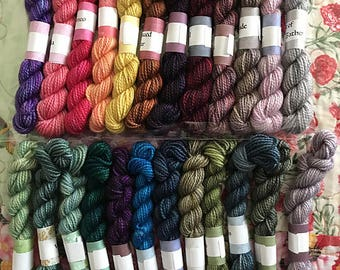 Shakespeare... 24 Color Mini Skein Set, Canon Hand Dyes Charles Merino Fingering Yarn