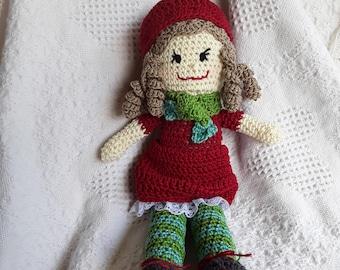 Crochet Doll 103, Sugar Daisy Dolls, CbbCreations, Rag Doll, Stuffed Doll