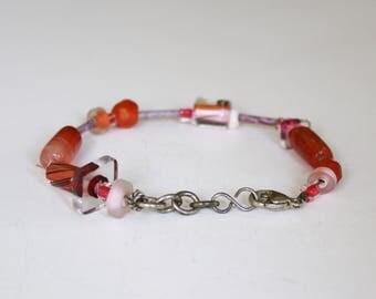 Handmade Beaded Sterling Bracelet