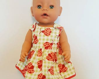 Baby Born Doll Clothes - Ladybug Dress