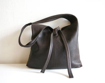 Leather 70s Hobo Bag