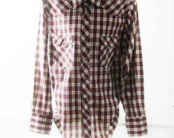 Men's Long Sleeve Snap Button Shirt by Rustler Large