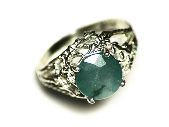 Grandidierite Ring Size 7 1 4 Sterling Silver 1 25 Ct Blue