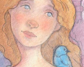 Cinderella....original ACEO