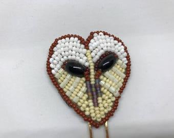 Barn Owl Shawl Pin or Hair Stick