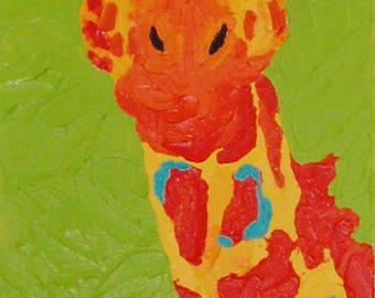 Tall Giraffe Painting