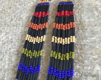 Hand Beaded Earrings
