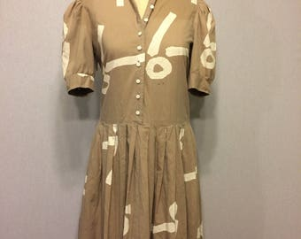 Vintage Abstract Symbol Dress