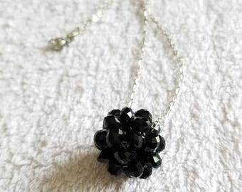 faceted beaded ball necklace