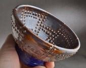 Shaving Bowl Ready To Ship Rust Brown Sheet Metal Shaving Lather Bowl by Symmetrical Pottery