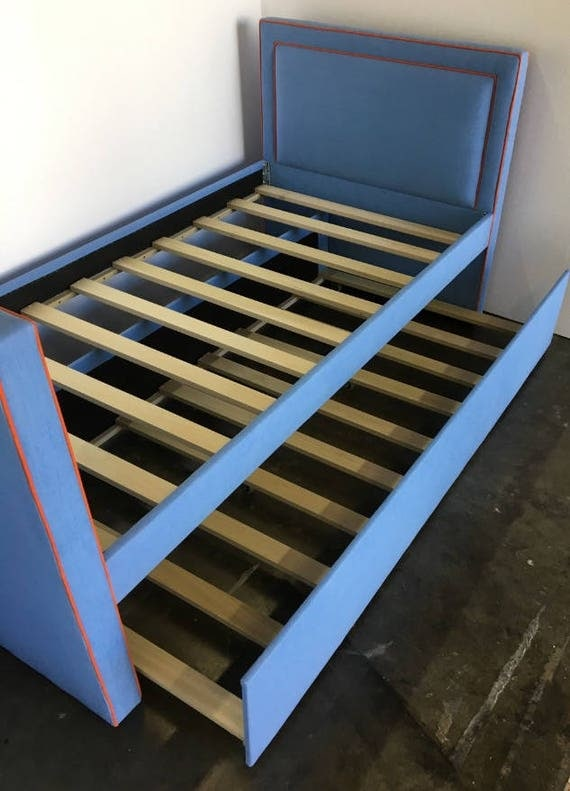 Custom Trundle Bed W/Inset piping detail