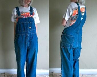 Vintage 1970's OshKosh B'Gosh Denim Overalls, Unisex Adults, 70's Denim, Work Wear Retro Union Made Sanforized