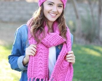 Women Hat Scarf Set, Matching knit scarf hat set, Matching set scarf hat, Knit Matching hat scarf set, Matching scarf