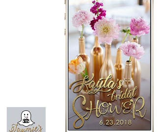 Gold Foil Bridal Shower Snap Chat Filter - Customize!