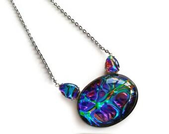 Cat Pendant, Cat head gem, Kitty necklace, Big jewel cat jewelry