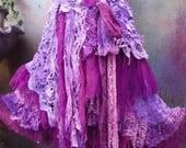 20%OFF RESERVEDgothic, bohemian skirt, bohemian, shabby skirt, lace skirt, lace, gothic skirt, gothic skirt, stevie nicks western, steampunk