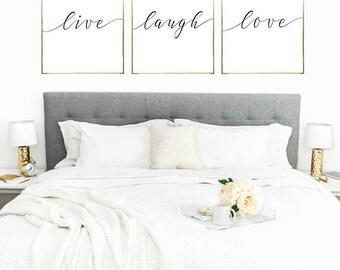 SALE -50% Live Laugh Love Digital Print Instant Art INSTANT DOWNLOAD Printable Wall Decor