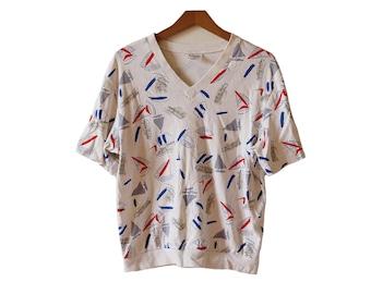 Vintage Sailing Shirt Women's Size Medium