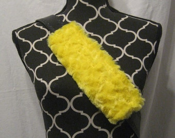 Car or Baby Car Seat belt covers made with yellow minki