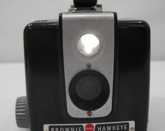 "Vintage 1950""s Eastman Kodak Brownie Hawkeye Flash Model Box Camera FREE SHIPPING"