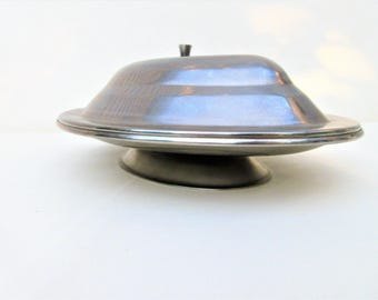 Vintage Stainless Serving Dish | Covered Dish | Lidded Tray | Serving Tray | Grill Platter | Oval Tray | Stainless Steel Dish | Grill Plate