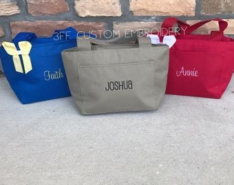 Personalized Name/Monogram Insulated Lunch Tote