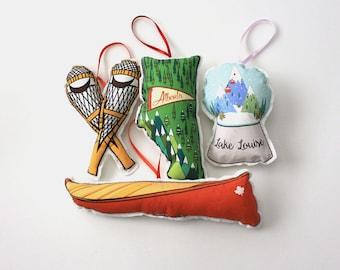 City Ornament set: city of Calgary - Canadian themed Christmas ornaments