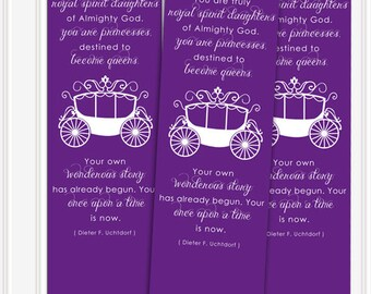 DIGITAL Uchtdorf EVER AFTER Bookmarks for lds Primary, Activity Days, Young Womens