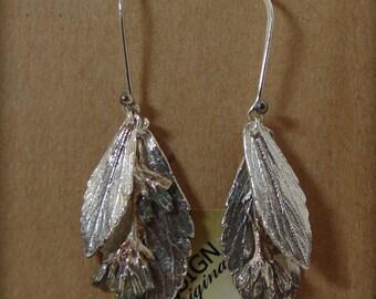"""A Little """"Something Sweet"""" - Fine Silver Stevia Earrings"""