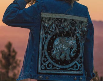 Embellished Elephant Jacket Size XS