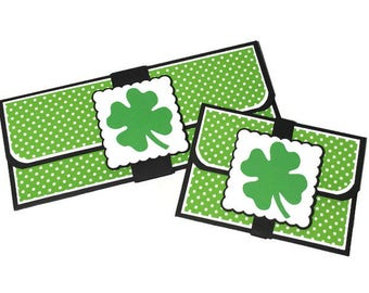 Irish holiday card, good luck card, st Patrick's day card, blank card, gift card holder, money envelope, money card, st Patrick's day favor