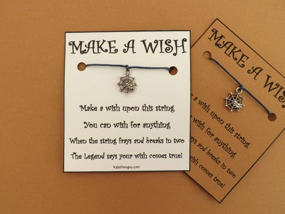 Halloween Spiderweb Wish Bracelet